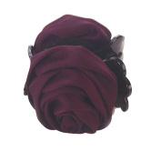 Rose Flower Barrette Hair Claw Clip Purple