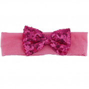 Lux Accessories Hot Pink Sequin Bow Baby Girl Infant Hair Accessories Headband