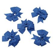Albeey Swallowtail Ribbed Ribbon Bow Hairpin Hair Head Clip Headdress Flowers