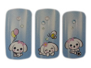Adorable Puppy Design Nail Art Wrap Water Transfer Decals for Natural/False Nails