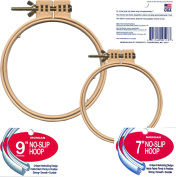 Morgan Quality Products No-Slip Embroidery Hoops Bundle, Interlocking Tongue and Groove Design