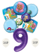 9th Birthday Bubble Guppies Party Decorations Balloon Bouquet by Ballooney's