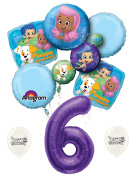 6th Birthday Bubble Guppies Party Decorations Balloon Bouquet by Ballooney's
