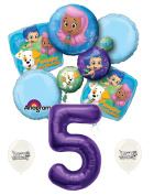 5th Birthday Bubble Guppies Party Decorations Balloon Bouquet by Ballooney's