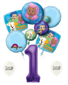 1st Birthday Bubble Guppies Party Decorations Balloon Bouquet by Ballooney's