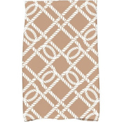 Simply Daisy 41cm x 60cm Know the Ropes Geometric Print Kitchen Towel Beige