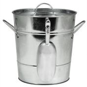Ice Bucket Large, Insulated Galvanised Metal Ice Scoop Wine Ice Buckets Large