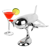 Aeroplane Shaker on Stand Cocktail Shaker Bar Set Accessories