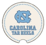 Coasting & Hosting Absorbent Car Coaster NCAA University of North Carolina Tar Heels