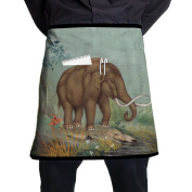 Mammoth Elephant Short Apron Gag Gift Kitchen Apron Towel Intended For Adult One Size Grill Terylene