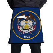 Utah Flag Short Apron Bacon Bib Intended For Adult One Size BBQ Dacron