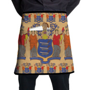 New Jersey Flag Apron For Waitress Funny Overhand Apron Prepare For Family Woman One Size Tailgate Grilling Materia
