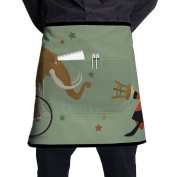 Mammoth Elephant Short Apron Black Pinafore Intended For Adult One Size Cooking Polyester
