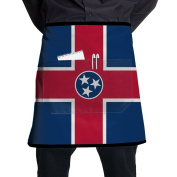 Tennessee Flag Short Apron Lightweight Kitchen Apron Towel Prepare For Family Man One Size Barbecue Polyester