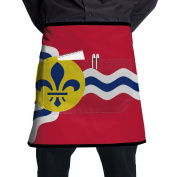 Louisiana Flag Waist Apron Bacon Cooking Apron Intended For Teens One Size Cooking Terylene