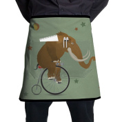 Mammoth Elephant Waist Apron Funny Attitude Aprons Prepare For Family Man One Size Cooking Terylene