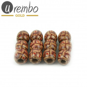 Urembo Gold Wooden Hair Beads Ifeoma – 12 pcs/Hair Beads Wooden Set of 12
