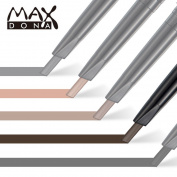 Maxdona Waterproof Retractable Long Lasting Professional Eyebrow Shaping Pencil Eye Brow Template Liner Shape Kit + 3 Stencils