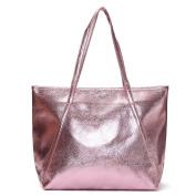 OURBAG Women's Tote Handbags Large Fashion Designer Elegant Quality Bag for Ladies Pink & purple