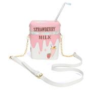 OURBAG Funny Strawberry Milk Women Shoulder Bag Crossbody Bags Girl Small Bag Purse Pink