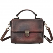 Leather Messenger Bag,Berchirly Leather HandBag Purse For Women