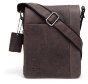 100% Pure Genuine Real Vintage Hunter Leather Handmade Mens Leather Flapover Everyday Cross Body Shoulder Work Messenger Bag
