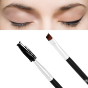 Tsmile Clearance 1PC Bamboo Handle Double Eyebrow Brush Double End Makeup + Eyebrow Comb