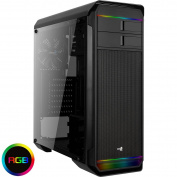 Aerocool Aero-500 RGB Gaming Case with Tempered Glass Window - Black