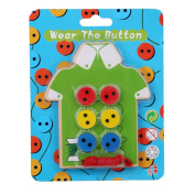 VWH Wooden Threading Buttons Wear Rope Matching Lacing Board Toys for Kids