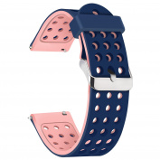 Moretek ( 18mm 20mm 22mm ) Quick Release Watch Band Lightweight Silicone Perforations Breathability Strap