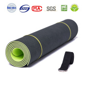 Thick Yoga Mat with Strap - ATHOON 2018 New Eco Friendly Non Slip Exercise TPE Yoga Mat for Men & Women Outdoor and Indoor