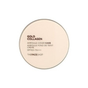 Theface Shop Gold Collagen Ampule Two-Way Pact SPF30 +/V203 Warm Beige
