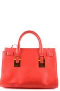 Elisabetta Franchi Women's MCBI113057O Red Leather Handbag