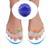SCIEN Gel Toe Separator With Blue Yoga Massage Ball for Foot Pain Relief, Bunions, Hammer Toe