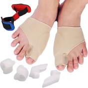 REFAGO 7pcs Bunion Corrector Toe Separator Set Hallux Valgus Straightener Foot Care Pain Relief