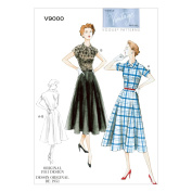 Vogue Patterns V9000 Misses' Dress and Belt Sewing Template, Size B5