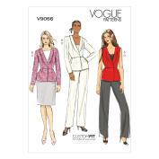 Vogue Patterns V9066 Misses' Vest, Jacket, Skirt and Pants Sewing Template, A5