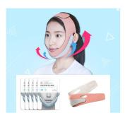 Scinic 44 Face Making Kit - Face V-Line Lifting Mask Skin Home Care Kit - Simple Using Method - Double Lifting Belt + Wrinkle-Care Cooling Gel Masks 5P