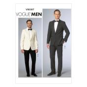 Vogue Patterns V9097MUU Men's Jacket and Pants Sewing Template, Size MUU