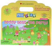 Mrs. Grossman's - Teddy Bear Tea Party - Peel and Play Kids Activity Set with Reusable Vinyl Stickers and Fold-Out Story Board - with Storage and Travel Handle - For Boys and Girls Ages 3 and Up