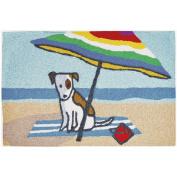 Jellybean Beach Bum Coastal Indoor/Outdoor Machine Washable 50cm x 80cm Accent Rug