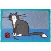 Jellybean It'S A Kitty Thing Pets Indoor/Outdoor Machine Washable 50cm x 80cm Accent Rug