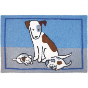 Jellybean Puppy Nap Pets Indoor/Outdoor Machine Washable 50cm x 80cm Accent Rug
