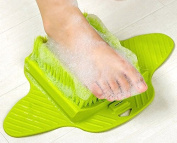 Massaging Shower Foot Brush - Deep Cleaning Scrubber with Soft Bristles and Anti-slip Suction Cups