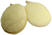 Loofah Sponge Pads, Exfoliating Loofah Pads, Rinse under clear water to remove residual body wash, 2 Pack
