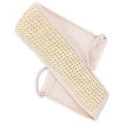 Exfoliating Loofah Back Scrubber for Shower, 1PC Loofah Back Strap Bath Brush Shower Natural Soft Exfoliating Loofah Massage Spa Scrubber Sponge