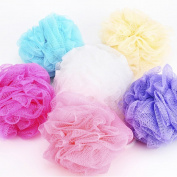 Exteren 5PCS Bath Shower Body Exfoliate Puff Sponge Mesh Net Ball Random