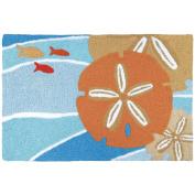 Jellybean Tangerine Sand Dollar Coastal Indoor/Outdoor Machine Washable 50cm x 80cm Accent Rug