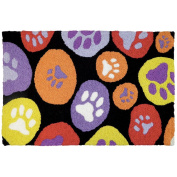 Jellybean Paws Galore - Bright Pets Indoor/Outdoor Machine Washable 50cm x 80cm Accent Rug
