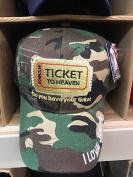 TICKET TO HEAVEN BIBLE VERSE JOHN 3:16 DO YOU HAVE YOUR TICKET Christian Hat Baseball Cap #CAMO